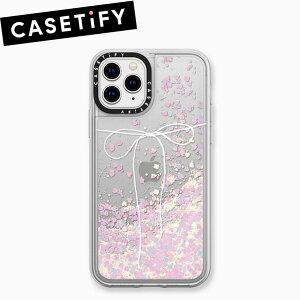 ケースティファイ アイフォン XI ( 11 ) Pro ケース テイク ア ボウ 2 ブラン グリッター ケース CASETiFY TAKE A BOW 2 BLANC GLITTER CASE iPhone XI ( 11 ) Proブランド LA 海外 XIRスマホ ギフト プレゼント 父の