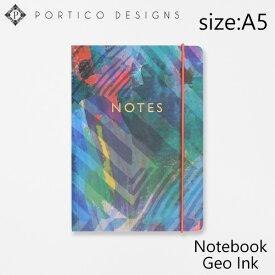 ポルティコデザイン ノート A5 ノートブック ジオ インク PORTICO DESIGNS A5 Notebook Geo Inkブランド デザイナーズ ステーショナリー UK イングランド GTNB1806ギフト プレゼント
