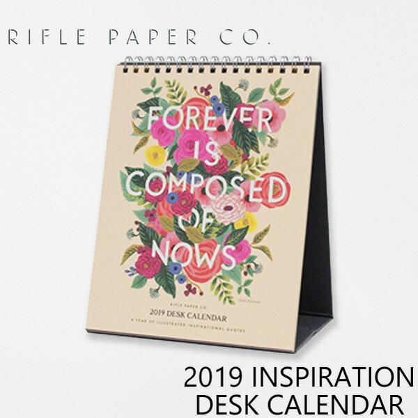 RIFLE PAPER CO. ライフルペーパー 2019 INSPIRATION DESK CALENDAR 2019 インスピレーション デスク カレンダーカレンダー ブランド デザイナーズ USA アメリカ CAL045ギフト プレゼント