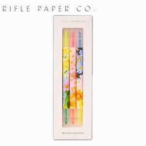 RIFLE PAPER CO. ライフルペーパー Marguerite Highlighter Set マーガレット 蛍光ペン セット3本 5色 ブランド デザイナーズ ペン USA アメリカ BHA001ギフト プレゼント 誕生日 お祝い
