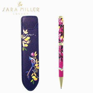 SARA MILLER サラミラー Pen&PenPouch ペン&ペンポーチペン ポーチ 鳥 レディース ピンク レモン ブランド デザイナーズ ステーショナリー UK ロンドン SAM2124ギフト プレゼント 母の日
