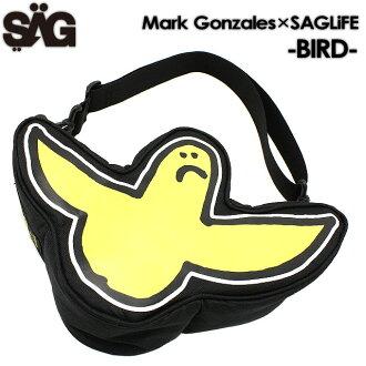 SAGLiFE Mark Gonzales×SAG包信使包挎包