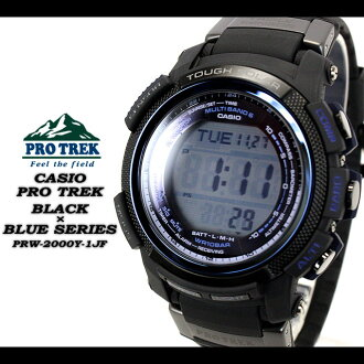 ★ ★ PRO TREK black × blue series men's men's watch / PRW-2000Y-1JF CASIO g-shock G shock Casio ""