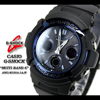 CASIO g-shock wave solar g-shock g shock G shock G-shock-multiband 6 watch AWG-M100A-1AJF/black