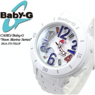 ★ ★ baby G neon & marine series BGA-170-7B2JF women ladies watch g-shock g-shock mini