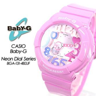 Baby G neon dial series BGA-131-4B3JF women ladies watch g-shock g-shock mini deals