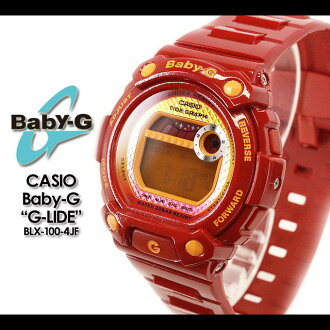 ★ ★ CASIO/G-SHOCK/g-shock g shock G shock G-shock Color Display Series/G-LIDE baby-g baby G baby g ladies watch BLX-100-4JF/red (red) women's