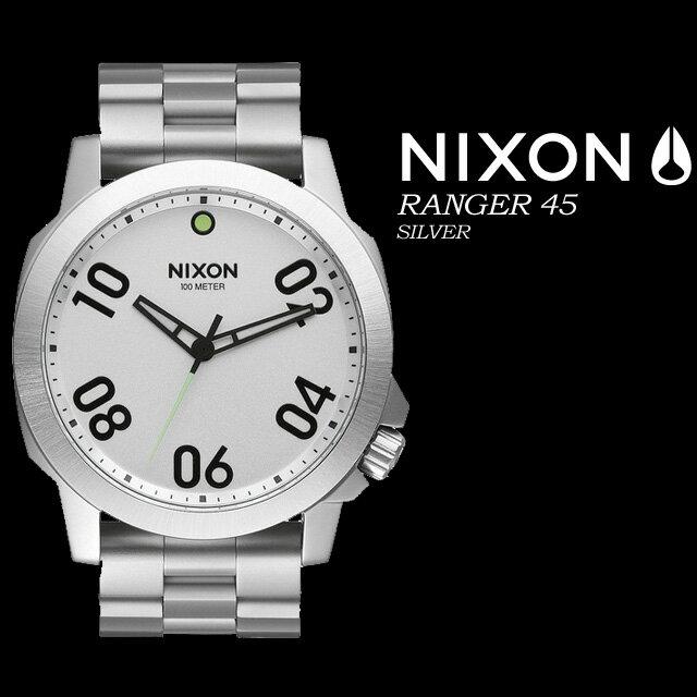 ◆送料無料◆ NIXON【ニクソン】【THE RANGER 45】SILVER NA521130 腕時計 メンズ 男性用