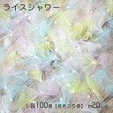 ライスシャワー1袋で100個(各色25個)(結婚式/披露宴/結婚式2次会)