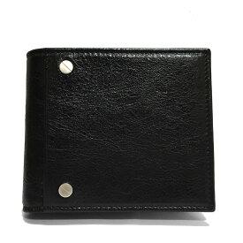 【当店売れ筋】BALENCIAGA バレンシアガ メンズ 二つ折り財布 542001 CU504 1000ブラック (新品)