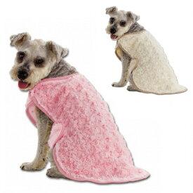 マルカン 寒い日に着る毛布 M (2L〜3L) ピンク・アイボリー 小型犬〜中型犬用 犬服 ミニチュアシュナウザー・パグ・フレンチブルドッグ・柴犬・コーギー等