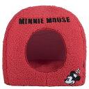 スリーアローズ ミニーマウス ドームベッド S レッド 犬猫用 ソファー マット ペットベッド