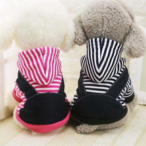ボーダー 裏起毛パーカー 3XL 4XL ピンク・ネイビー 犬服 中型犬 柴犬・ボーダーコリー・コーギー等