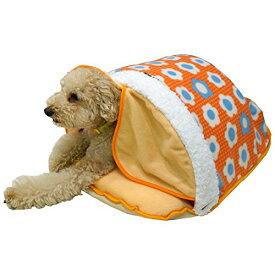 ドギーマン 電気のいらない暖か、からだ保温ぶとん Mサイズ デイジーポップ 超小型犬〜小型犬・猫用 ペットベッド クッション ソファ ドーム