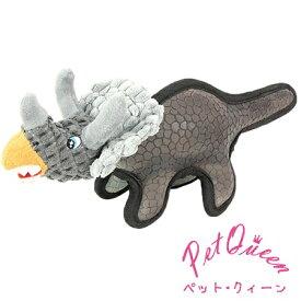 ペットクイーン トリケラトプス バニラフレーバーの香り付き 犬用 おもちゃ TOY 恐竜 ぬいぶるみ (PetQueen)