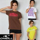O'NEILL×FINEコラボレディースTシャツ8858ブラウン