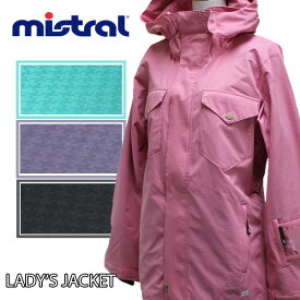 レディーススノーボードウェア mistral(ミストラル)MB-2034/ジャケット/千鳥/ピンク・グリーン・パープル・ブラック/レディース/ボードジャケットボードウェア・スノーボード・S/M/L