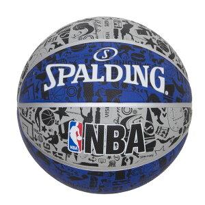 83-176Z グラフィティ ブルー ラバー 7号球 NBAロゴ入り   正規品 SPALDING スポルディング バスケットボール バスケ NBA 7号 ラバー ゴム 屋外 外用 屋内 室内