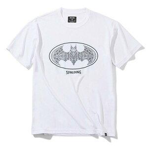 SMT200480 Tシャツ バスケットボールウェア ホTシャツ バットマン ダマスクロゴ / Tシャツ バットマン ダマスクロゴ   正規品 SPALDING スポルディング バスケットボール バスケ 練習着 メンズ レデ