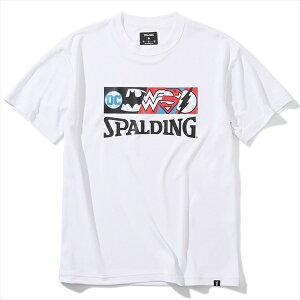 SMT200460 バスケットボールウェア Tシャツ ジャスティスリーグ キャラクターズ バットマン ワンダーウーマン スーパーマン フラッシュ | 正規品 SPALDING スポルディング バスケットボール バス