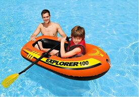 58329 エクスプローラー100 ツーマンボート intex インテックス INTEX U-5098 58329 (海・川・船・夏・ボート・プール)ボート