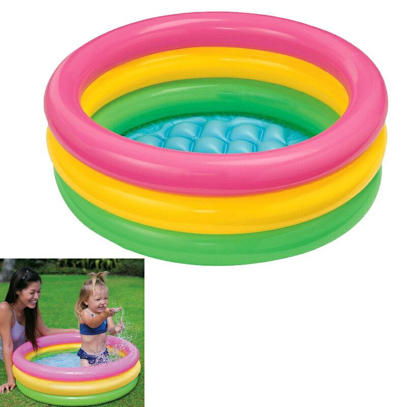 プール INTEX (インテックス) サンセットグローベイビープール ME-7025/58924 【クッション底】 【ビニールプール】【家庭用プール】子供用 ベビー 小さいプール