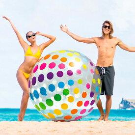 U-58097/58097 インテックス ビーチボール 浮輪 ジャイアントビーチボール 【ビーチボール】/ INTEX(インテックス) 【日本正規品】メーカー情報では直径183cm..たぶん空気を入れてない時の長さです。空気入れると120cm位の球になります。