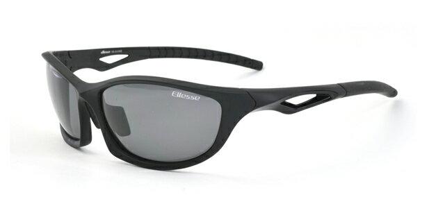 エレッセ スポーツサングラス ES-S203H ブラックマット ブラック 偏光サングラス 黒 メンズ 男性用 偏光スモークレンズ