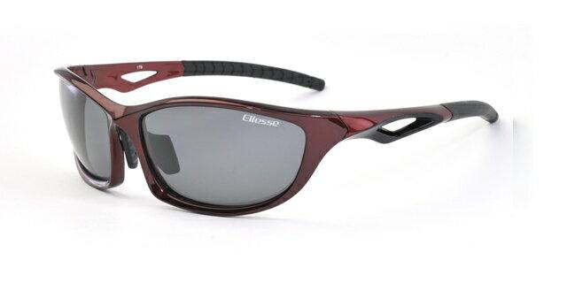 エレッセ スポーツサングラス ES-S203H レッドブラック 偏光サングラス 赤 黒 メンズ 男性用 偏光スモークレンズ