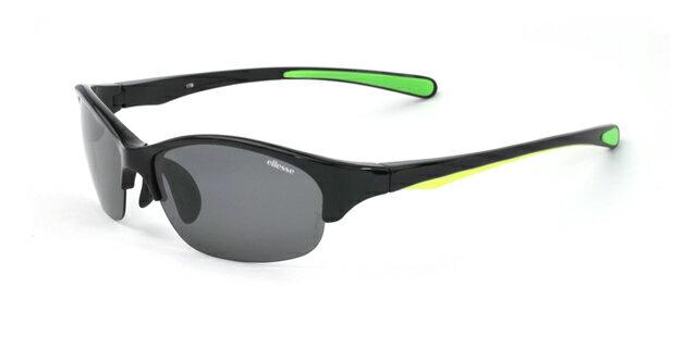 エレッセ スポーツサングラス ES-S205H ブラック ライムグリーン 偏光サングラス グリーン イエロー 緑 黄色 黒 メンズ 男性用