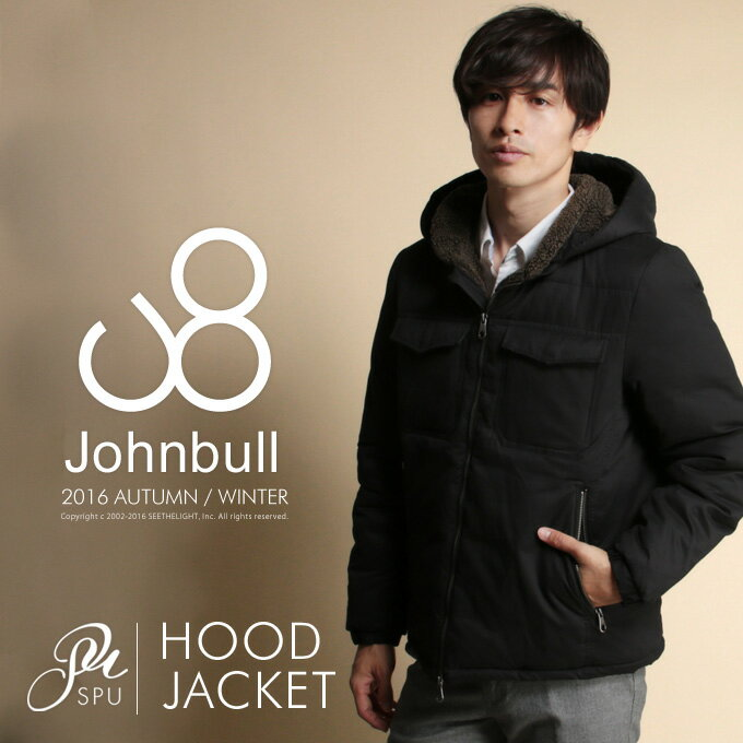 ライトウォーム 裏ボア フード ジャケット 秋冬 アウター メンズファッションJohnbull(ジョンブル)16507