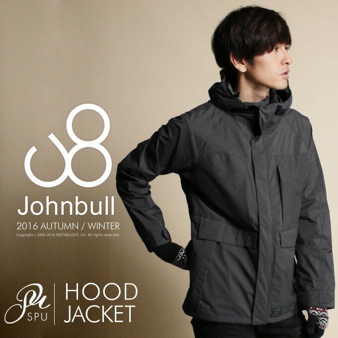 2.5レイヤー ジップアップ フード レイン ジャケット 秋冬 アウター メンズファッションJohnbull(ジョンブル)16523