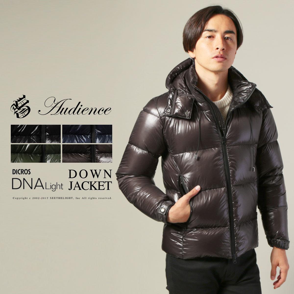 ダウンジャケット メンズ アウター DICROS DNA LIGHT フード脱着 ダウン ジャケット Audience オーディエンス〓予約販売・10月上旬頃発送予定〓