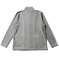 メンズカーディガンカーデ秋冬春日本製TRブークレライクニットボタンレスカーディガンSLICKスリック5168707