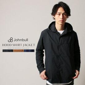 ジャケット アウター メンズ 春 秋 タイプライター フード シャツ ジャケット Johnbull ジョンブル 13562 M L
