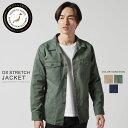 ジャケット メンズ グリストーンW 高密度オックスストレッチ ファティーグジャケット Upscape Audience アップスケー…