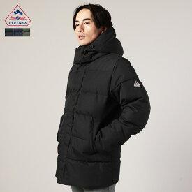 ダウンジャケット メンズ ダウン ジャケット アウター BELFORT 秋 冬 フード M L XL トレンド Pyrenex ピレネックス HMO023