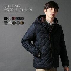 【アイテム】撥水素材/取り外しフードキルティング中綿ジャケット【ブランド】SPU(スプ)