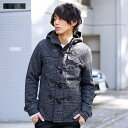【A】ダッフルコート コート アウター メンズ 冬 冬物 メンズファッション ウール メルトン ショート ダッフル コート M L XL ブラック ネイビー グレー ベージュ グレンチェック SPU スプ