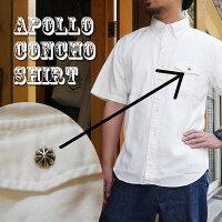 コンチョシャツオックスフォードシャツメンズアポロコンチョ日本製半袖シャツオックスシャツボタンダウンシャツワークシャツかわいい人気服世田谷ベース