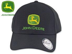☆JOHN DEERE【ジョンディア】STRETCH FIT CAP BLACK ストレッチフィットキャップ ブラック 19163 [メンズ レディース 帽子]