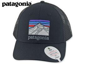 ☆PATAGONIA【パタゴニア】Line Logo Ridge LoPro Trucker Hat Black ライン・ロゴ・リッジ・ロープロ・トラッカー・ハット ブラック [メンズ レディース]