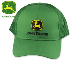 ☆JOHN DEERE【ジョンディア】LOGO MESH BACK CAP JD GREEN ロゴキャップ グリーン 17708 [レディース 帽子 春夏]