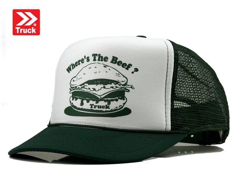 ☆TRUCK BRAND【トラックブランド】BEEF-G #X13 SA14 メッシュキャップ ダークグリーン/ホワイト 8730 [SNAPBACK スナップバック アメカジ 帽子 メンズ レディース]14297