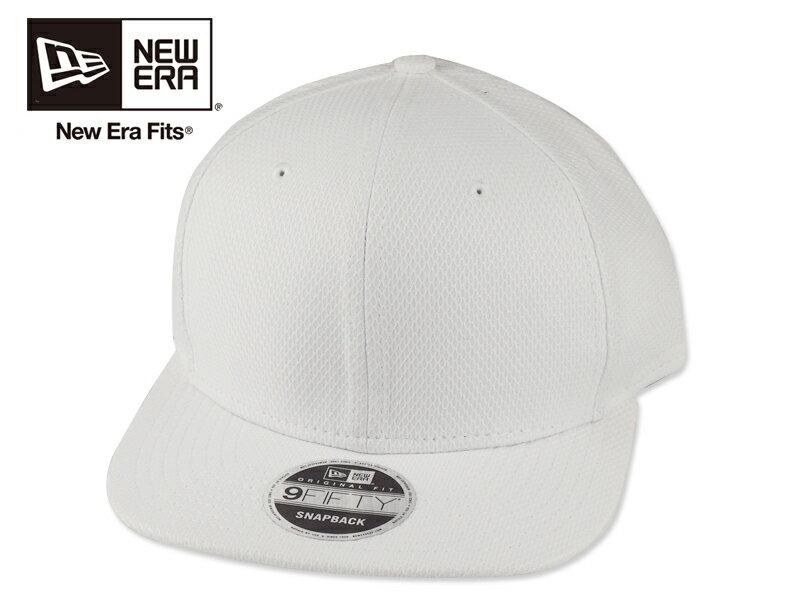 ☆NEWERA【ニューエラ】NE404 Diamond Era Snapback Cap White ダイアモンドエラ スナップバック キャップ ホワイト 16397[9色 無地 カスタム シンプル 野球帽]10P19Dec15