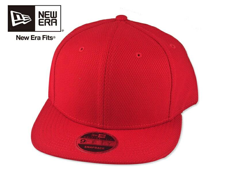 ☆NEWERA【ニューエラ】NE404 Diamond Era Snapback Cap Scarlet ダイアモンドエラ スナップバック キャップ スカーレット 16397[9色 無地 カスタム シンプル 野球帽]10P19Dec15