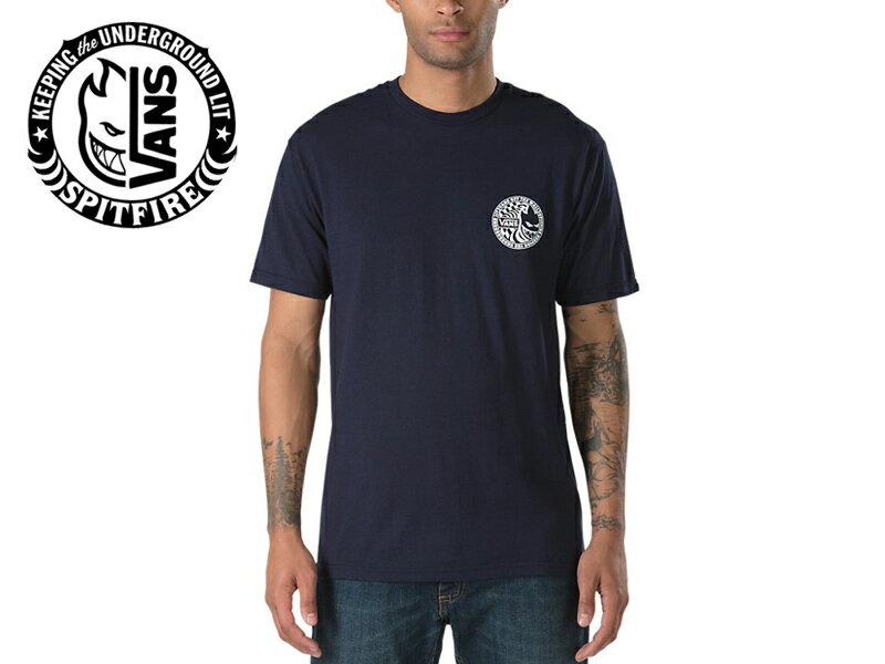 ☆VANS×SPITFIRE【バンズ×スピットファイヤー】 T-SHIRTS 2 NAVY Tシャツ ネイビー 16233 [SKATE SK8 スケボー ヴァンズ] 10P21Feb15