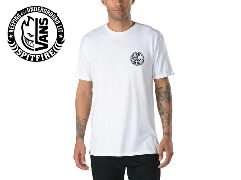 ☆VANS×SPITFIRE【バンズ×スピットファイヤー】 T-SHIRTS 2 WHITE Tシャツ ホワイト 16233 [SKATE SK8 スケボー ヴァンズ] 10P21Feb15