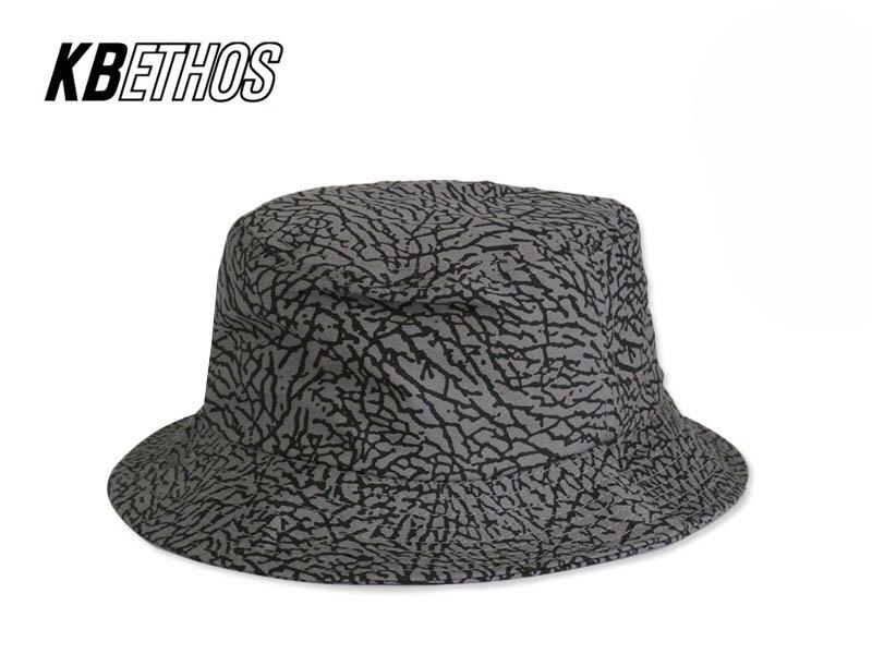 ☆KB ETHOS【ケービー エソス】Elephant Skin BUCKET HAT LIGHT GREY/BLACK エレファントスキン バケットハット ライトグレー/ブラック 13236 [メンズ レディース]【メール便対応】 10P05Sep15