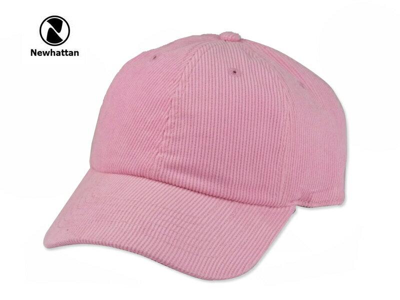 ☆NEWHATTAN【ニューハッタン】CORDUROY CAP LIGHT PINK コーディロイ キャップ ライトピンク 15164 [2016 無地 シンプル メンズ レディース] 10P01Mar15